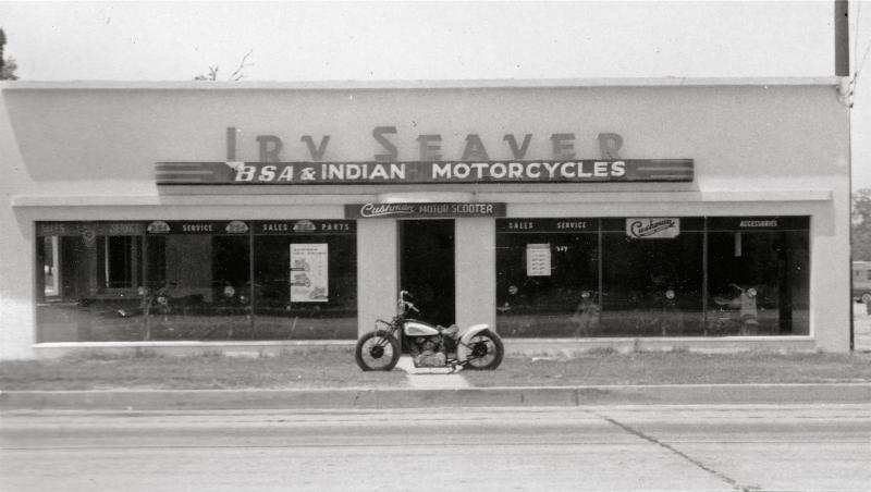 Irv Seaver Motorcycles Vintage Photo